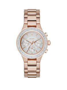 dkny-dkny-chambers-chronograph-silver-dial-rose-gold-tone-bracelet-ladies-watch