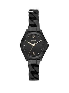 dkny-dkny-parsons-black-dial-black-tone-chain-bracelet-ladies-watch