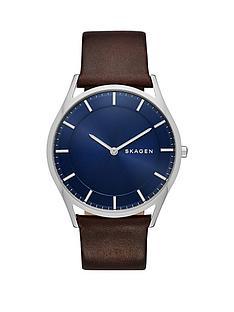 skagen-skagen-holst-blue-sunray-dial-dark-brown