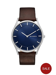 skagen-skagen-holst-blue-sunray-dial-dark-brown