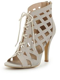 glamorous-caged-tie-up-shoe-boot