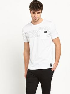 crosshatch-contour-short-sleeve-mens-t-shirt-ndash-white