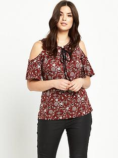 so-fabulous-cold-shoulder-lace-up-top