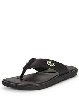 lacoste-l30-toe-post-sandal-black