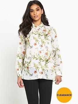 miss-selfridge-floral-drape-front-shirt