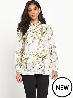 miss-selfridge-miss-selfridge-floral-drape-front-shirt