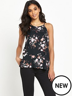 miss-selfridge-blossom-print-high-neck-cami