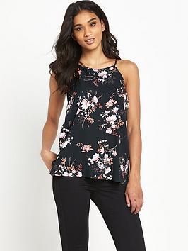 miss-selfridge-blossom-print-high-neck-cami