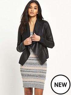 miss-selfridge-waterfall-pu-biker-jacket