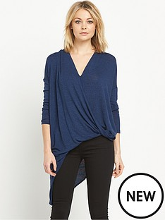 river-island-drape-front-knitted-jumper