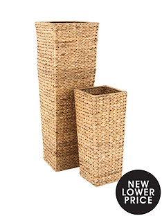 set-of-2-medium-sized-arrow-weave-vases-with-square-base-natural