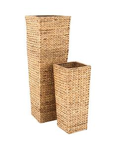 set-of-2-water-hyacinth-decorative-wicker-vases-natural