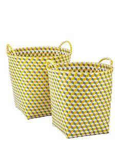 set-of-2-rounds-baskets-yellow