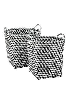 set-of-2-rounds-baskets-black
