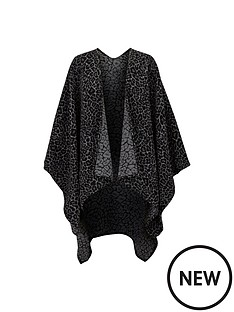 wallis-wallis-animal-print-cape