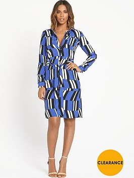 rochelle-humes-geo-shirt-dress