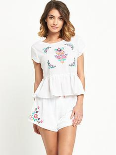 mink-pink-embroidered-beach-peplum-top
