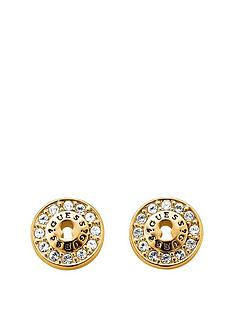 guess-gold-plated-padlock-design-earrings