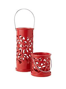set-of-2-candle-holders-in-red