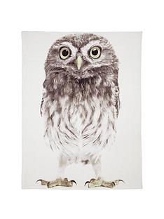 owl-print-fleece-throw
