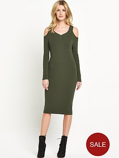 v-by-very-cut-out-shoulder-rib-dress