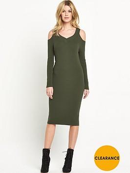 v-by-very-cut-out-shoulder-rib-dress