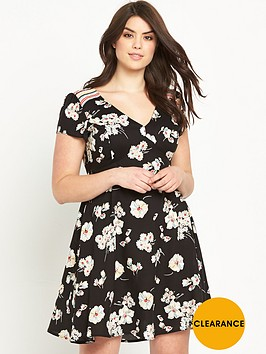 so-fabulous-floral-print-v-neck-tea-dress