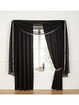 Pair of Pearl Pleated Lined Voiles