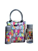 Brokenhearted insulated Lunch Tote With Vacuum Flask & Hydration Bottle