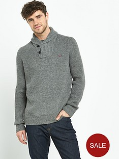 fred-perry-fishermans-shawl-collar-knit