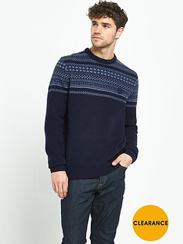 fred-perry-winter-fairisle-crew-neck-mens-jumper