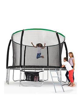 Sportspower 14Ft Titan Super Tube Trampoline Enclosure Ladder &Amp Shoe Bag