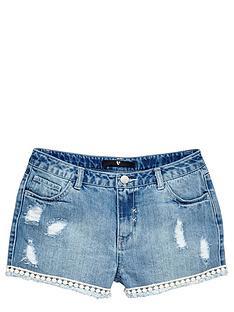 v-by-very-girls-high-waistednbspdenim-shorts-with-pom-pomnbsptrim