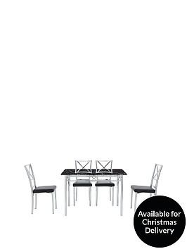 120-cm-marble-effect-diningnbsptable-4-chairs