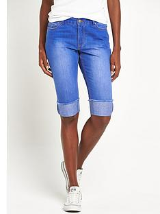 v-by-very-turn-up-knee-length-denim-shortnbsp