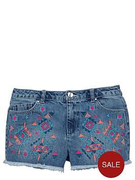 v-by-very-girls-aztec-embroidered-denim-shorts
