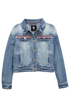 v-by-very-girls-aztec-trim-denim-jacket