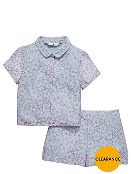 v-by-very-girls-peter-pan-collar-lace-top-and-shorts-set