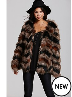 little-mistress-multinbspfauxnbspfur-chevron-coat