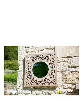la-hacienda-square-stone-effect-garden-mirror