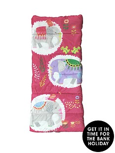 highland-trail-elephant-kids-sleeping-bag-girls