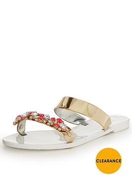 lipsy-glitter-flat-sandal