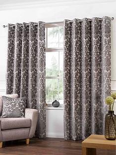 damask-heavyweight-jacquard-eyelet-curtains