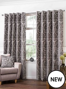 damask-heavyweight-jacquard-eyelet-curtains