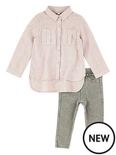 river-island-mini-pink-flanel-shirt-amp-legging