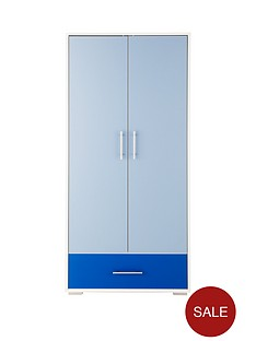 addison-2-door-1-drawer-kids-wardrobe