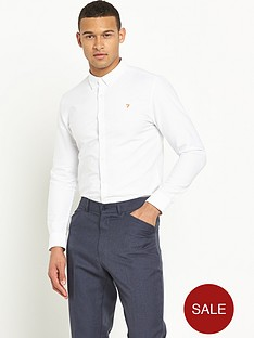 farah-vintage-brewer-slim-long-sleeve-oxford-shirt