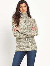 Super Slouch Cable Roll Neck Sweater