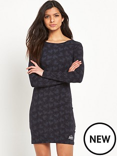 superdry-winter-print-bodycon-dress