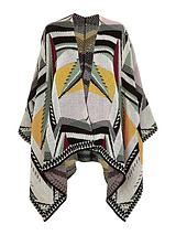Knitted Print Cape